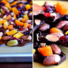 Chocolate Bark with Dried Fruit
