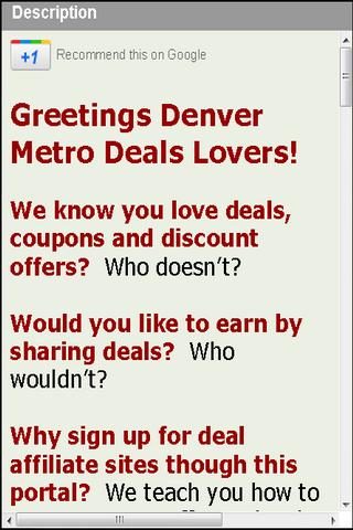 Deals Denver Earn Rewards Cash
