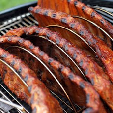 Backyard St. Louis-Style Pork Ribs with Spicy Cola Barbecue Sauce