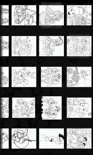 만화 컬러 템플릿 5
