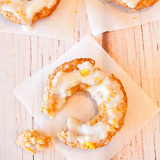 Baked Orange Coconut Banana Donuts with Orange Coconut Vanilla Cream Cheese Glaze (Inspired by Baked Cinnamon Bun Donuts with Vanilla Cream Cheese Glaze and Baked Vanilla Donuts with Vanilla Glaze)