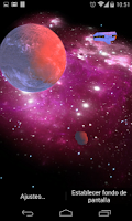 Screenshot of 3D Galaxy Live Wallpaper Full