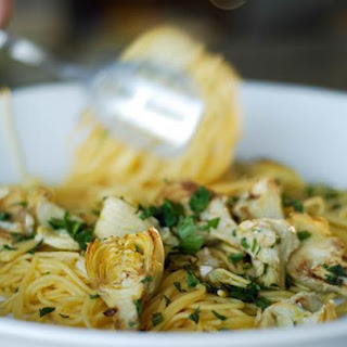 Pasta with Browned Artichokes and Lemon