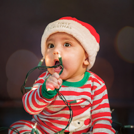 Tasty Lights by Jay Andrino - Babies & Children Child Portraits ( lights, lightzone photography, babies, art, christmas, los angeles, children, creativity, portrait )