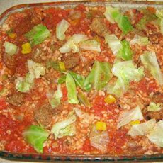 Sausage Cabbage Bake