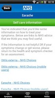 Screenshot of NHS Health and Symptom checker