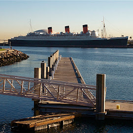 Queen Mary by Richard Timothy Pyo - Transportation Boats