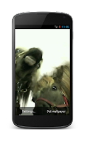 Screenshot of Horses lick screen Wallpaper