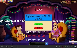 Screenshot of KBC Quiz with Bheem