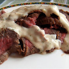 Marinated Flank Steak With Mustard Sauce