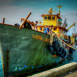 Fishing Boat by Nick Foster - Transportation Boats ( boats, sea, ocean, seascape, fishing, fishing boat )