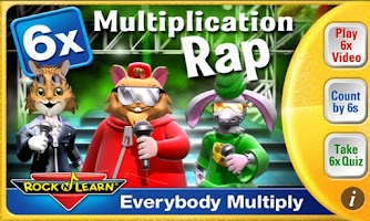 Screenshot of Multiplication Rap 6x