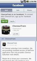 Screenshot of Chennai Suburban trains