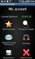 Screenshot of My Money Manager