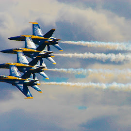 Blue Angels by Clifford Krous - Transportation Airplanes ( speed, airplane, aircraft, blue angels, air show )
