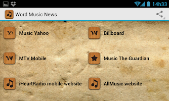 Screenshot of Word Music News