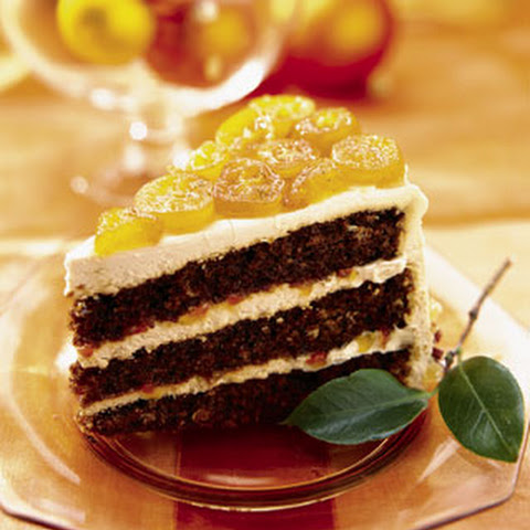 Gingerbread Layer Cake with Candied Kumquats