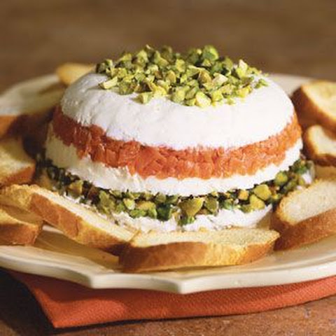 Mascarpone and Goat Cheese Torta with Smoked Salmon