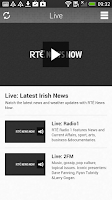 Screenshot of RTÉ News Now