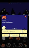 Screenshot of Pepe-halloween Go sms theme!