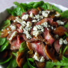Steak, Mushroom and Blue Cheese Salad