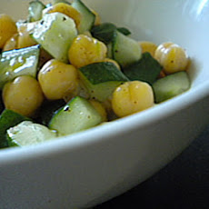 Cucumbers and Chickpeas with a Chili-Lime Vinaigrette