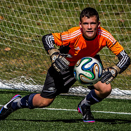 The Goalkeeper by Tim Christian - Sports & Fitness Soccer/Association football ( clean sheet, determined, eye on the ball, free kick, soccer,  )