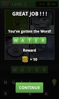 Screenshot of 4 Pics 1 Quiz -What's the Word