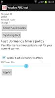 Screenshot of Voodoo RRC Tool, fast dormancy