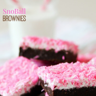 SnoBall Brownies