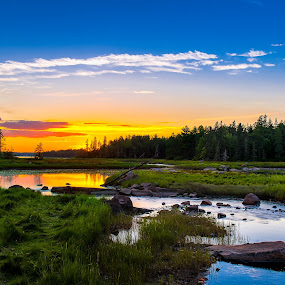 North East Creek, Bar Harbor, Maine by Aaron Priest - Landscapes Sunsets & Sunrises ( maine, hdr, sunset, bar harbor, tide, north east creek, coast )