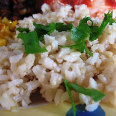 Garlicky Brown Rice