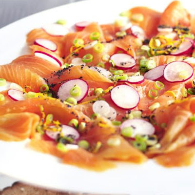 Marinated Smoked Salmon With Poppy Seeds