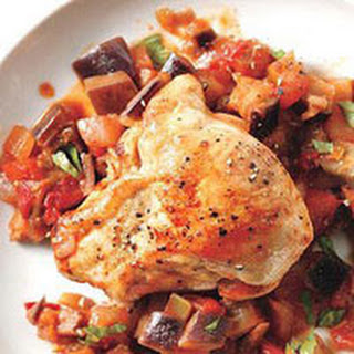 Chicken with Caponata Ragout