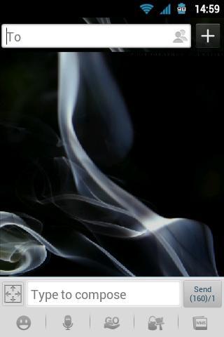 GO SMS Pro Smoke Theme
