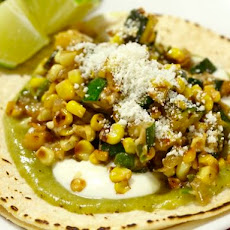 Charred Corn and Zucchini Tacos