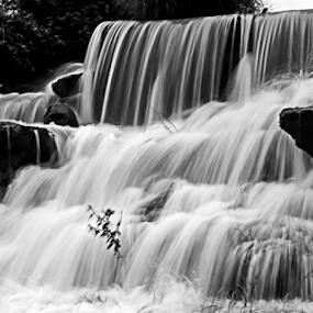 Waterfall_01 by Vyom Saxena - Nature Up Close Natural Waterdrops ( mumbai, highway, pune, monsoon waterfall )