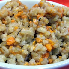 Sweet Potato Barley Risotto in the Crock Pot