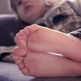 feetsies by Michelle du Plooy - People Body Parts ( child, chair, girl, feet, toddler )