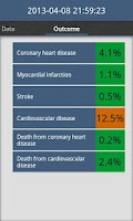Screenshot of Cardiac risk calculator