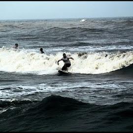 port a texas gulf by Emmy Nevarez-Durham - Sports & Fitness Surfing ( freedom, surfing, gulf, texas, ocean view )