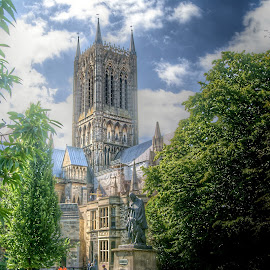 Lincoln Cathedral by Stephen Hall - Buildings & Architecture Places of Worship ( uk, lincoln, hdr, church, exterior, cathedral )