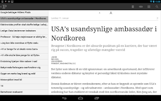 Screenshot of Politiken e-avisen