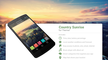 Screenshot of Country Sunrise Theme