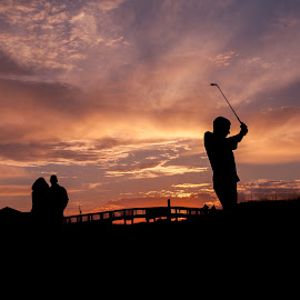 Proud Parents by Shelley Patterson - People Family ( parents, dreams, sunset, golf, son, youth )