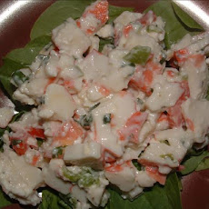 Imitation Crab Salad on Lettuce or in Wrap/Pita