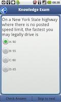 Screenshot of Driver License Test New York