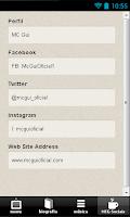 Screenshot of MC Gui Letras