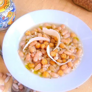 Ligurian Bean and Barley Stew Pressure Cooker