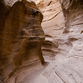 Tight Fit by Brenda Metcalf - Landscapes Caves & Formations ( kasha katuwe, canyon, slot, nm, new mexico )
